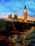 George Ganciu Stories On Canvas - Night Fall über Westminster
