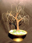 Sal Villano Wire Tree Sculpture - Verrostet OAK No.2 - Mini Wire Baum Skulptur