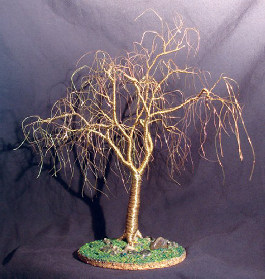 Kunstwerk >> Sal Villano Wire Tree Sculpture >> Winter Willow - draht baum skulptur , durch Sal Villano