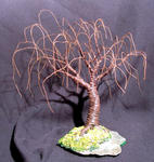 Sal Villano Wire Tree Sculpture - Verrostet WEIDE - Mini Wire Baum Skulptur