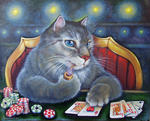 Светлана Кисляченко Jam-Art - Royal Flush (cat Poker zu spielen)