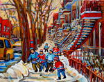 Carole Spandau - HOCKEY GAME AT THE RED TREPPE