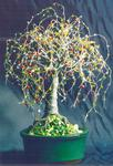 Sal Villano Wire Tree Sculpture - Multi Color Eiche - Wire Baum Skulptur von Sal. Villano