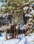 Yudin Yury - -Winter-Straße-