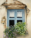 Marie-Claire Houmeau - Old Blue window