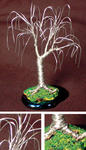 Sal Villano Wire Tree Sculpture - OAK BONSAI - Mini Wire Baum Skulptur