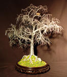 Sal Villano Wire Tree Sculpture - winter-vogel-nest - draht baum skulptur , von sal villano