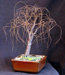 Sal Villano Wire Tree Sculpture - KLEINE BONSAI ULME - draht baum skulptur